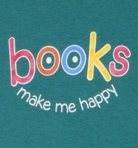 Books Make Me Happy Heathered Jade Closeup