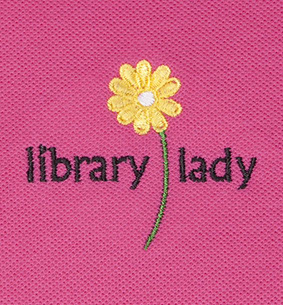 Library Lady Hot Pink Closeup