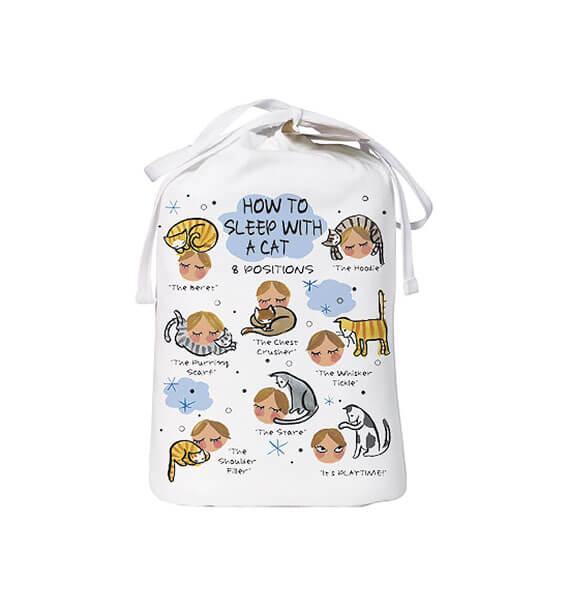 how to sleep with a cat sleep shirt bag