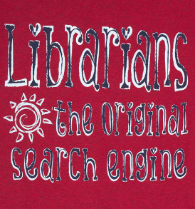 librarians the original search engine tshirt heathered red closeup