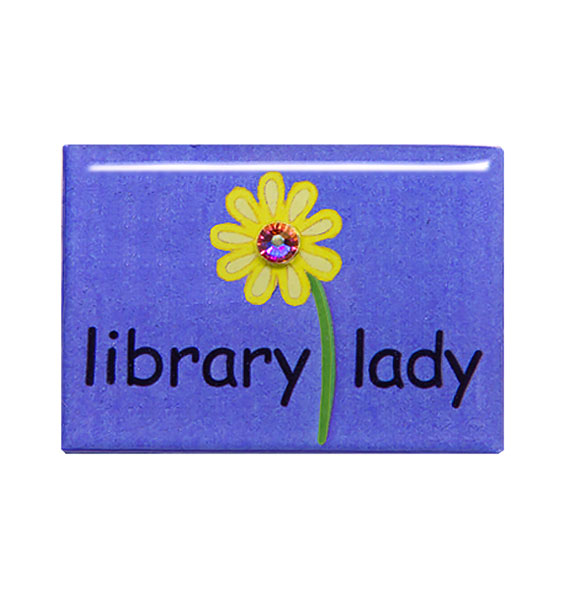 library lady pin purple