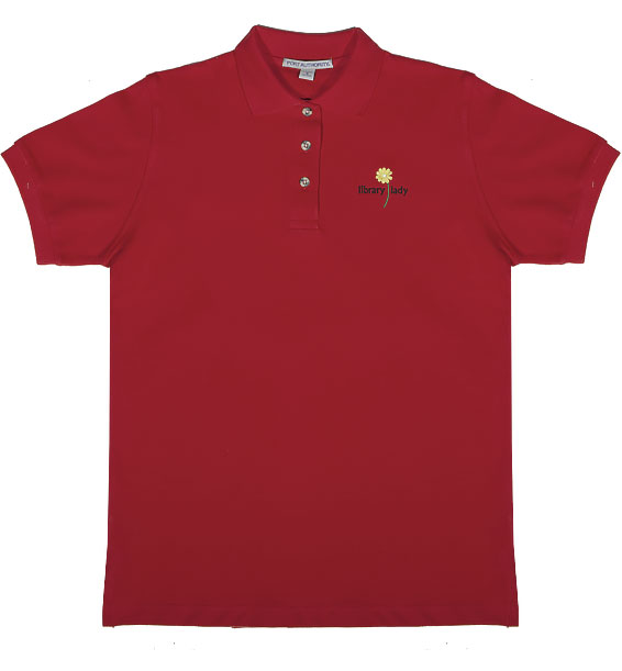 library lady polo red