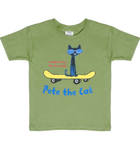 read to live, live to read pete the cat on skateboard youth t-shirt