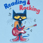 reading & rocking pete the cat t-shirt