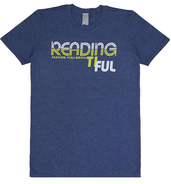 reading makes you beautiful heathered blue