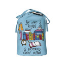 she who reads is book every night sleep shirt bag