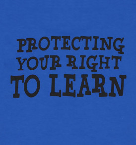 super teacher protecting your right to learn closeup back