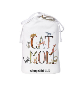cat mom sleep shirt bag