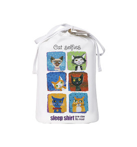 cat selfie sleep shirt bag