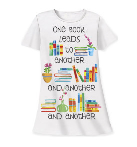 one books leads to another and another and another sleep shirt