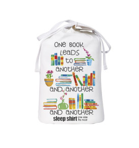 one books leads to another and another and another sleep shirt bag