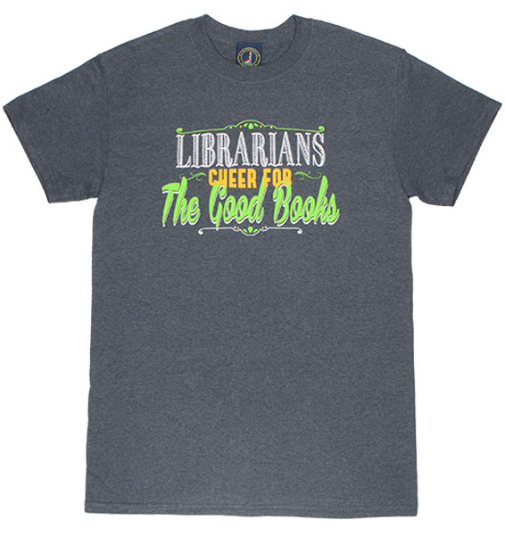 Librarians Cheer for All the Good Books Heathered Charcoal