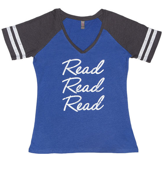Read Read Read Charcoal Heathered Royal