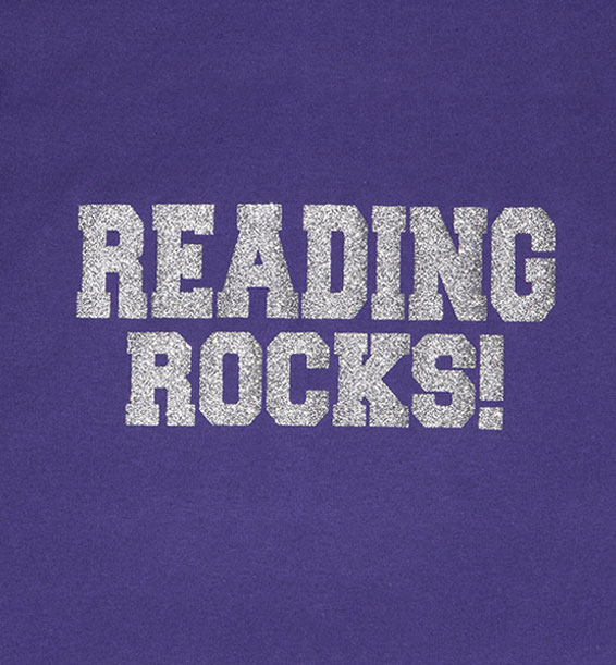 Reading Rocks Purple Closeup