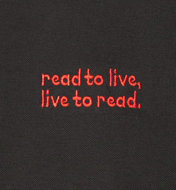 read to live live to read Black closeup