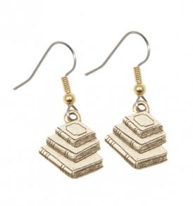 Book-Earrings-Gold