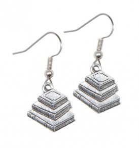 Book-Earrings-Silver