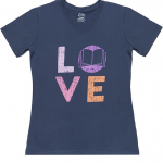 love-blue-v-neck-tshirt
