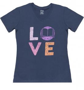 love-blue-v-neck-tshirt