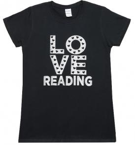 love-reading-black-tshirt