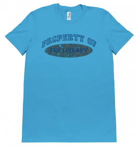 property-of-the-library-torquoise-tshirt