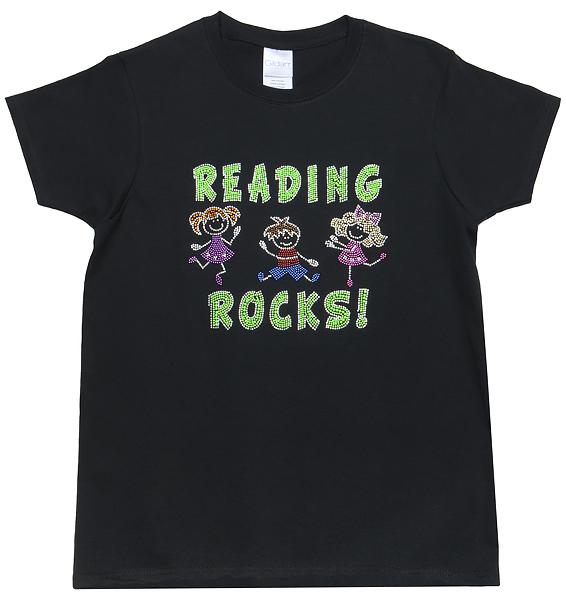 reading-rocks-rhinestone-black-tshirt