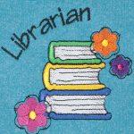 Librarian Flowers Heathered Aqua