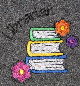 Librarian Flowers Heathered Charcoal