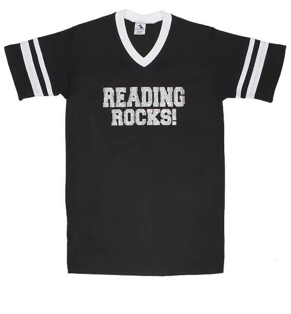 f682d6155a32 Reading Rocks Sports V-Neck Tee - Stop Falling
