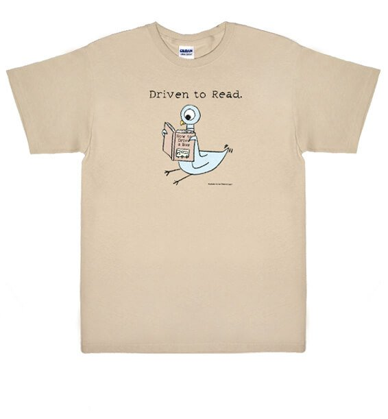 """Driven To Read"" Pigeon T-Shirt"