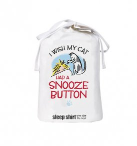 I Wish My Cat Had a Snooze Button Sleep Bag