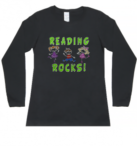 reading rocks long sleeve tee