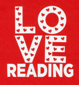 love reading tshirt closeup