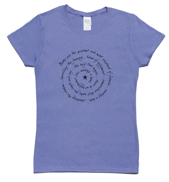 books are ladies short sleeve tee violet