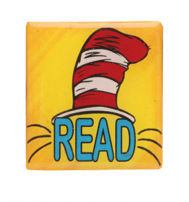 cat in the hat yellow pin