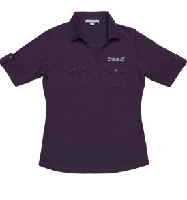 Purple read polo