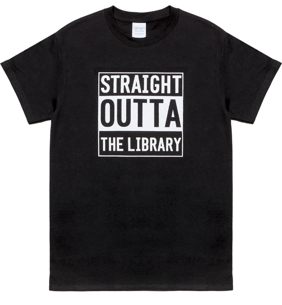 straight outta the library t-shirt