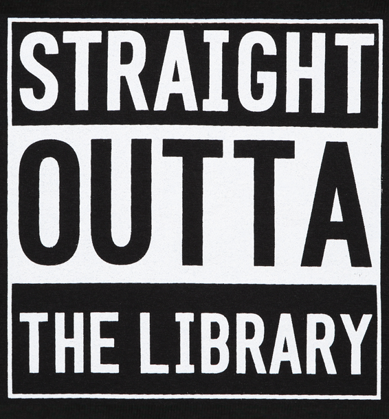 straight outta the library t-shirt design