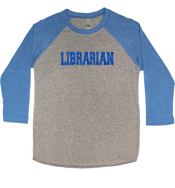 1224 baseball-tee-sparkle-librarian-gray-blue