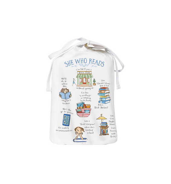 she who reads sleep shirt bag