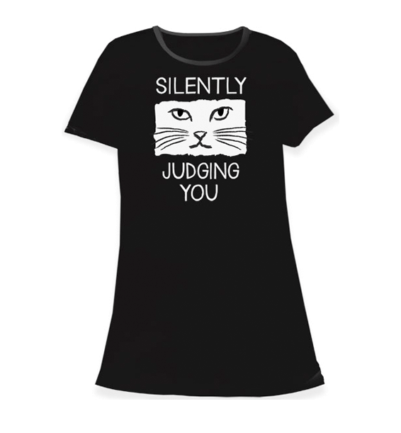 silently judging you sleep shirt