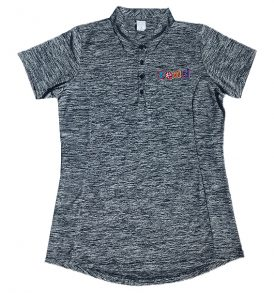 daisy read heathered polo navy