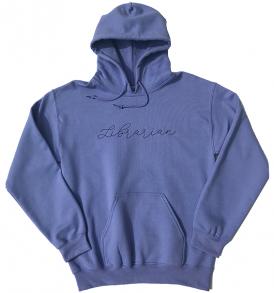 violet library hoodie