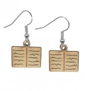 lightweight large wood earrings